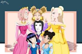 Les princesses version naruto 2