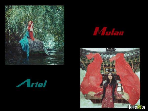 Qui est la plus belle ? Ariel vs Mulan