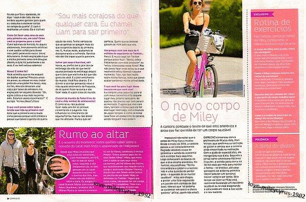 """Capricho"""" juillet 2012 - magazine brésilien"""