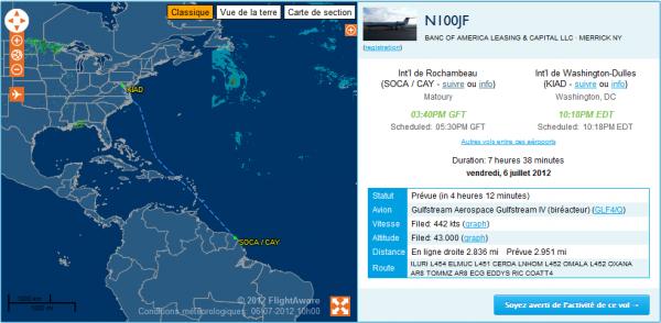 Départ prévu d'un Gulfstream IV !!!