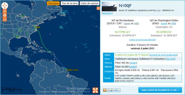 Départ  d'un Gulfstream IV !!!