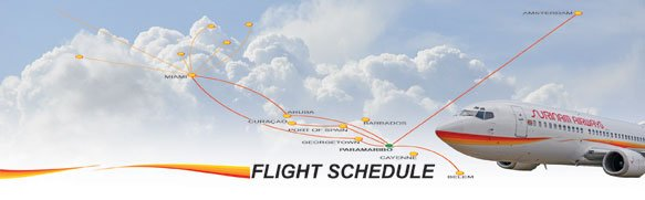 Surinam Airways annonce ses horaires de vols vers Cayenne !!!!