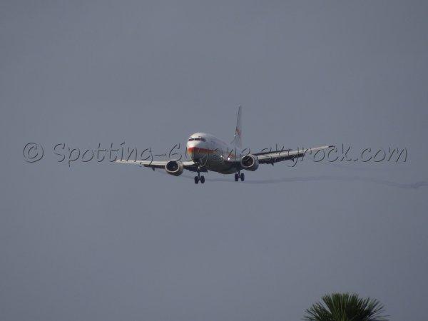 Photos de la première arrivée du vol PY9917 en Guyane !!!!