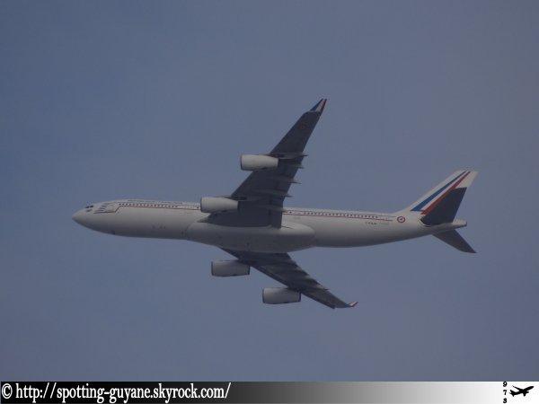 Départ de l'A340-200 (F-RAJA)