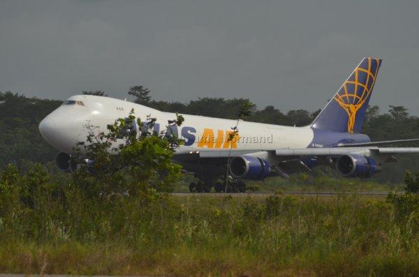 Arrivée prévue d'un Boeing B747 !