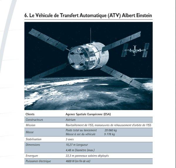 Présentation de l'ATV Albert Einstein qui sera  lancé demain