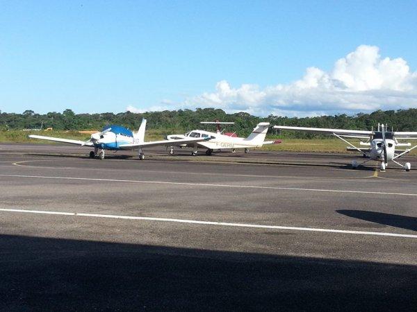 Arrivée d'un Piper PA28