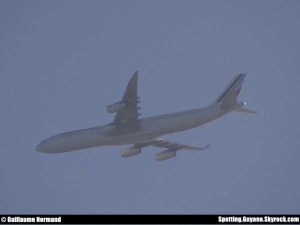 Arrivée prévu d'un Airbus A340