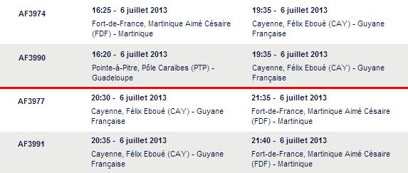 2 A320 Air France prévu à Cayenne ce soir
