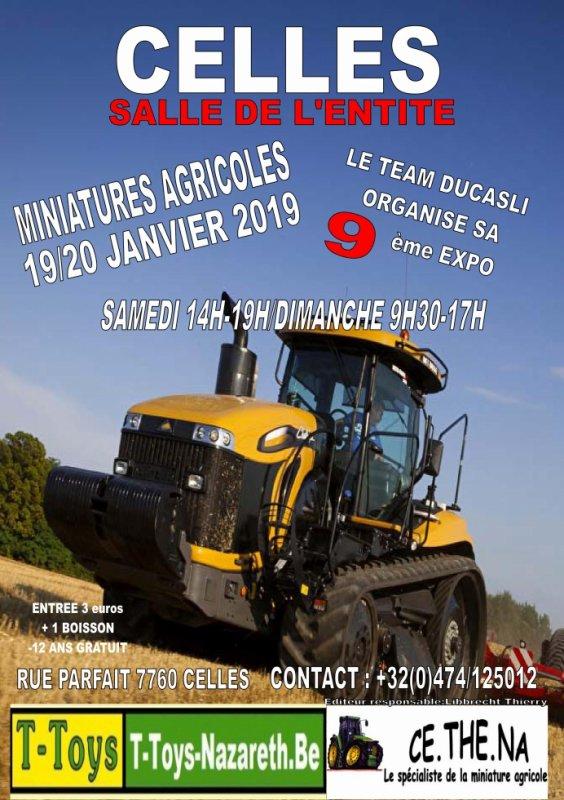 9 ème Expo Ducasliminiagri les 19 et 20 janvier 2019