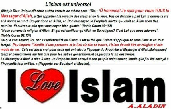 L'universalité de l'Islam