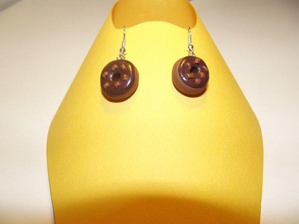 Boucle d'oreille donuts.(4¤)