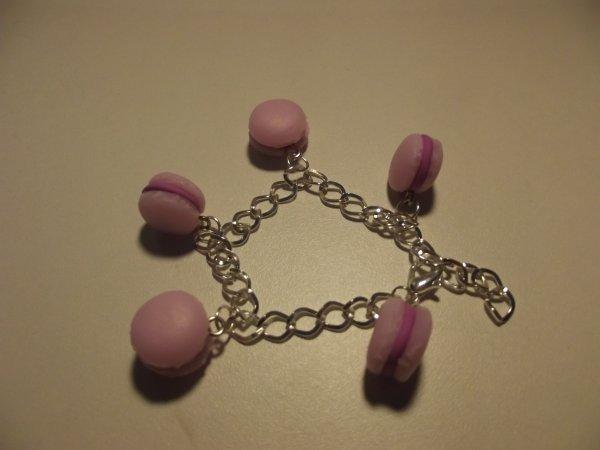 Bracelet macaron rose.(5¤)