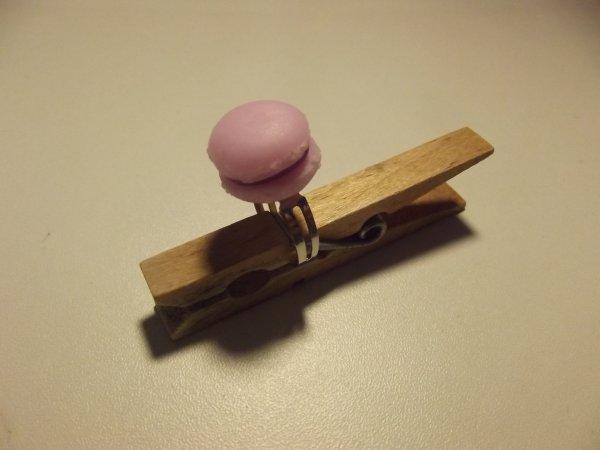 Bague macaron rose.(4¤)