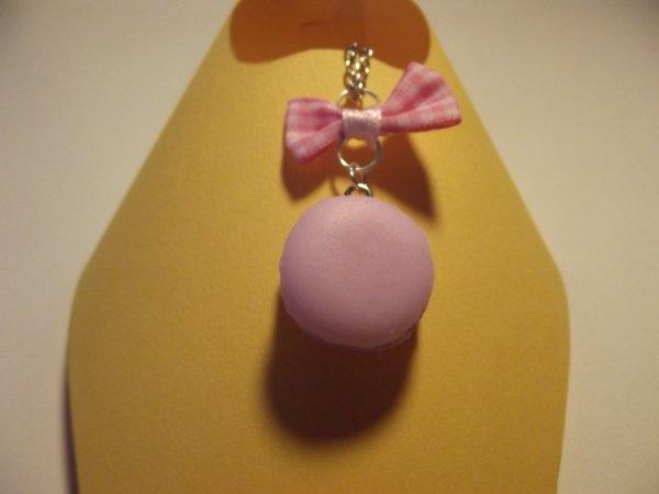 Collier macaron rose. (7¤)