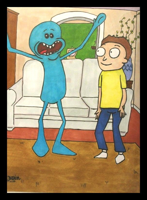Mr  Meeseeks.  (Rick et Morty)