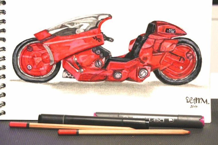 La moto de Kaneda !   (Akira)