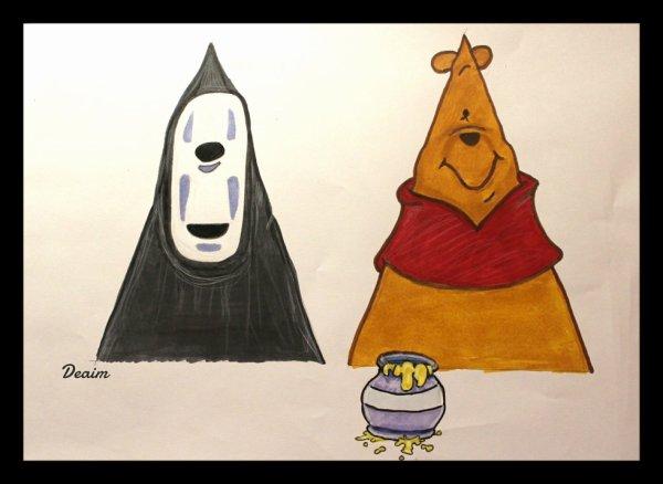 """Ordo-Illuminatee "" :  Kaonashi and Winnie the Pooh"