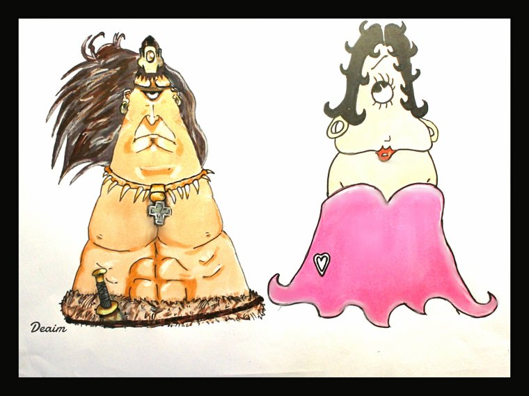 """Ordo-Illuminatee "" :  Conan and Boop Betty"