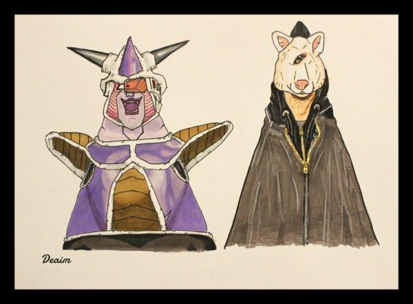 """Ordo-Illuminatee"" :   Freeza and Fox Mask"