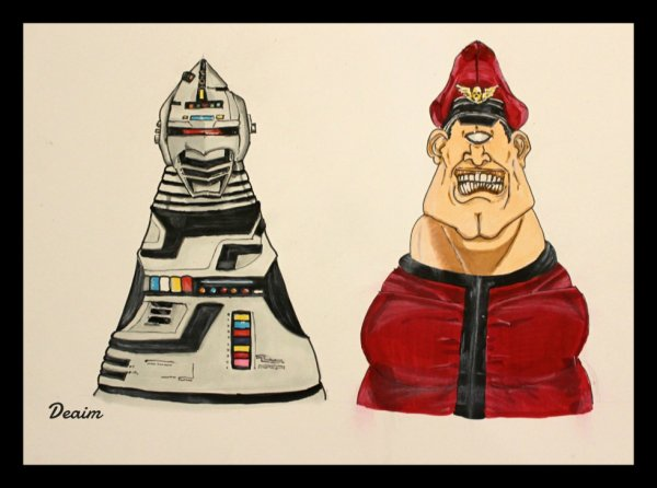 """Ordo-Illuminatee"" :  Space Sheriff Gavan  and M.Bison"