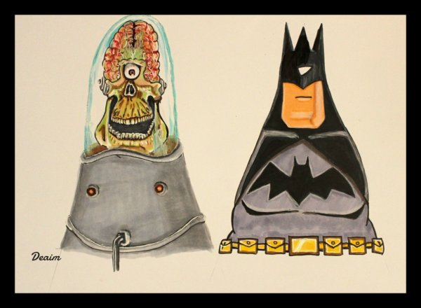 """Ordo-Illuminatee"" :    Martian Foot Soldier and Batman"