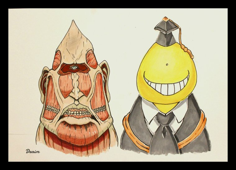 """Ordo-Illuminatee"" :   Titan Colossus and Koro-Sensei"
