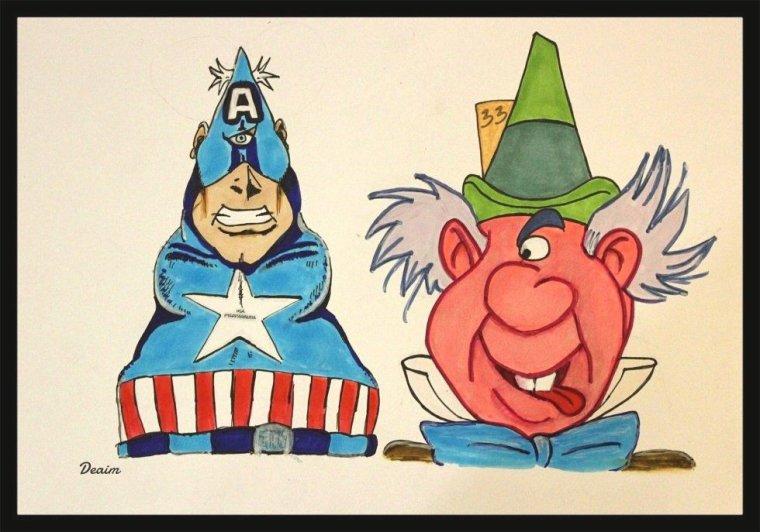 """Ordo-Illuminatee""  : Captain America and Mad Hatter"