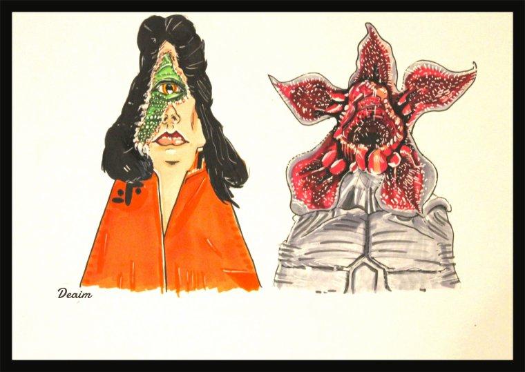 """Ordo-Illuminatee"" : Diana Marshall  and Demongorgon"
