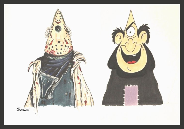 Ordo-Illuminatee :  Jason Voorhees  and Gargamel