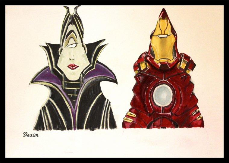 """""""Ordo-Illuminatee """" :    Maleficent and Iron Man"""