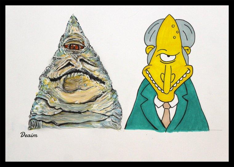 Ordo-Illuminatee :  Jabba the  Hutt and Charles Montgomery Burns
