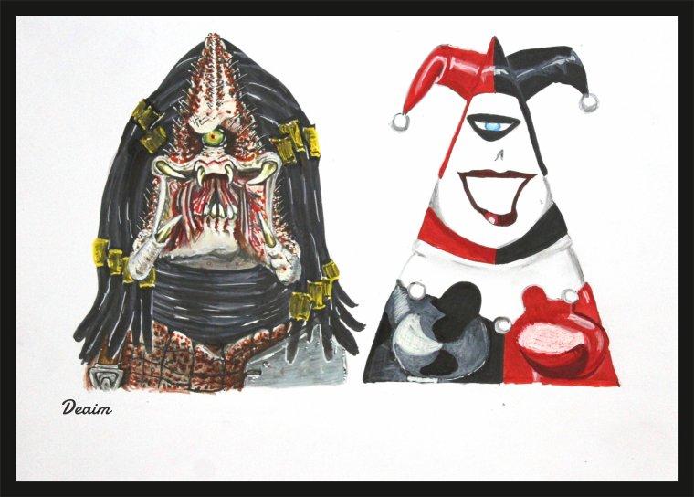 Ordo-Illuminatee : Yautja ''   Predator'' and   Harley Quinn