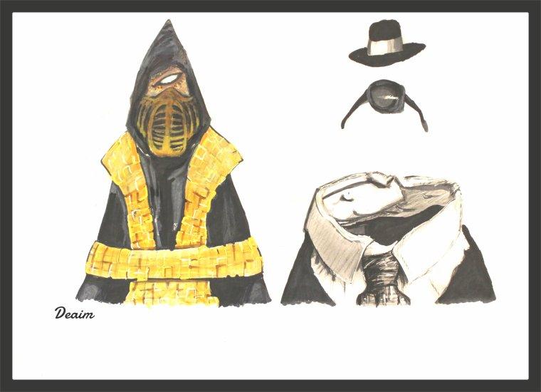 """Ordo-Illuminatee "" :    Hanzo  Hasashi    (Scorpion)  and Jack Griffin  ( The invisible man)"