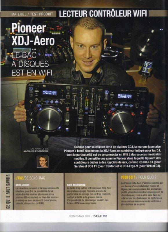 SONOMAG - NOVEMBRE 2012 - DJ MAST XDJ AERO PIONEER WIFI