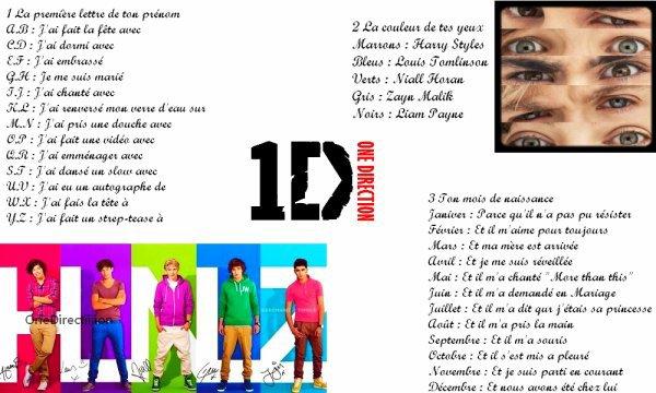 Construisez des phrases avec les One Direction! :D