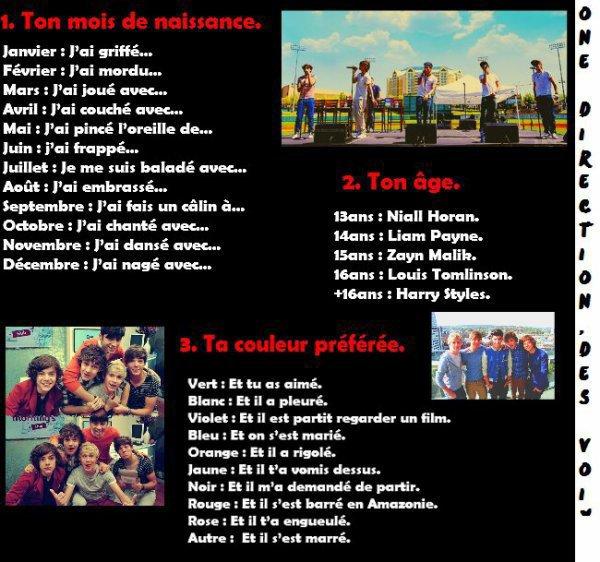 Construit des phrases avec les One Direction! :D