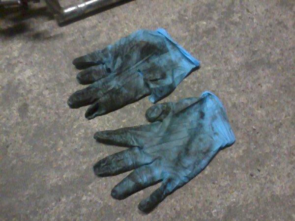 l'etat des gants apres démontage