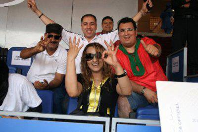 هنا في مركب مراكش في لقاء المنتخب المغربي مع الجزائر مع الداودية