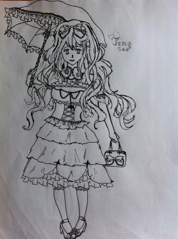 (My drawing) Ksenia Aristova - Pour la fic Black Butler (Kuroshitsuji) de Kuroshitsuji---Sonicx