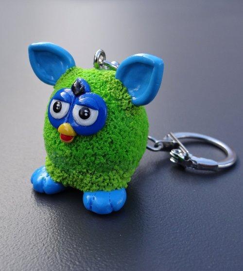 Porte-clé Furby réalisés entièrement à la main sur commande