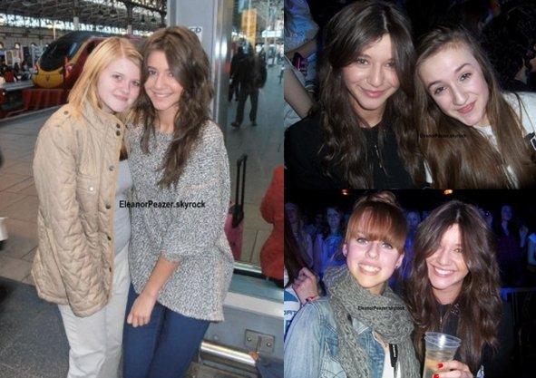 Eleanor avec les fans et Danielle pour la performance d'Alexandra Burke + Gemma avec Anne et Gemma avec les garçons.
