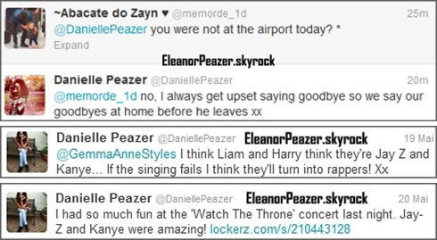 Eleanor a l'aéroport, Danielle sur Twitter, Eleanor et Louis.