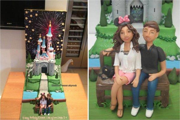 Lanielle a l'aéroport et a Venise, Quelques messages d'anniversaire, Le gâteau d'El, Photo de Lanielle en soirée