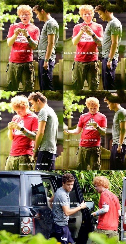 Les garçons et Ed Sheeran, le 08/08/1
