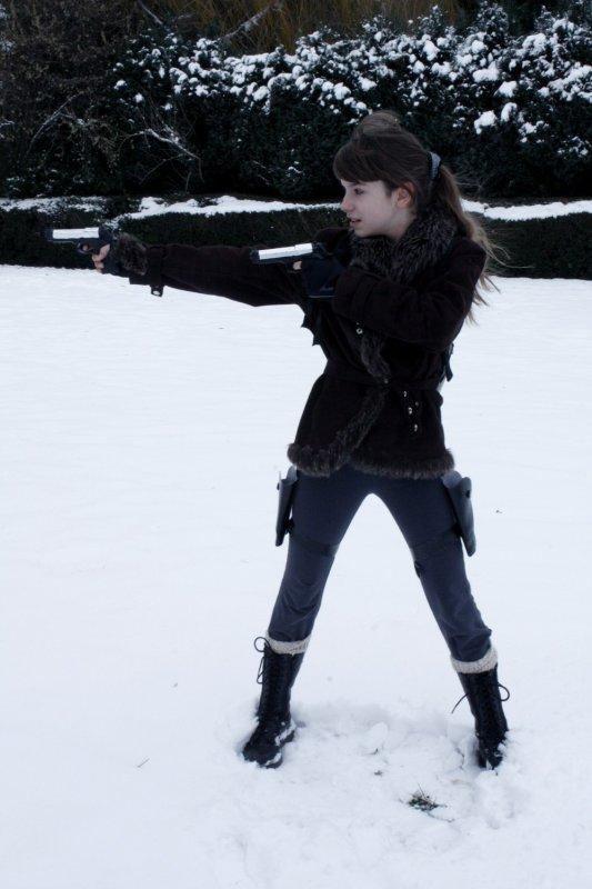 Cosplay Tomb Raider Légend Kazakstan.