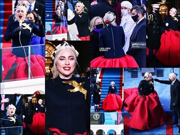 20/01/21   ▬ Lady Gaga a chanté lors de  « l'inauguration de Joe Biden » à Washington DC. C'est un Top!