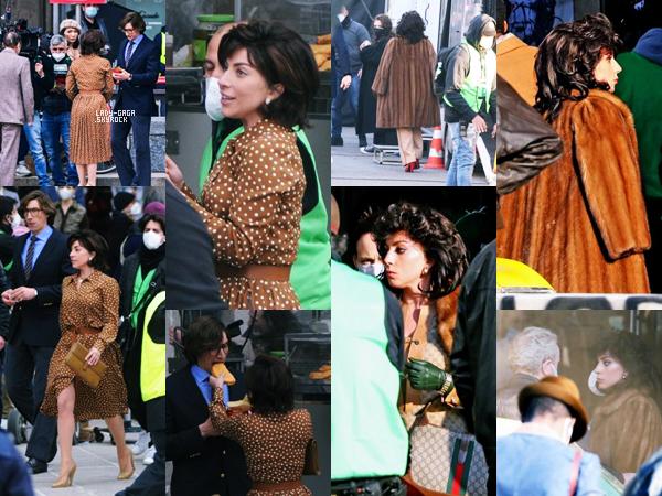"""10/03/21   ▬ Lady Gaga a été vue avec  « Adam Drive » à Rome en plein tournage du film """" HouseofGucci """"."""
