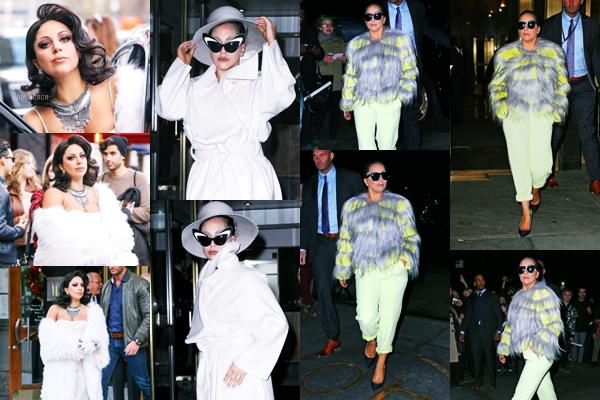 01/12/14   ▬ Lady Gaga toute belle,  a été vue sortant de son appartement à  « New York » . C'est un Top!
