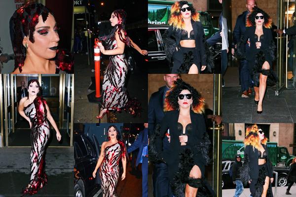 02/12/14   ▬ Lady Gaga toute belle,  a été vue sortant de son appartement à  « New York » . C'est un Top!